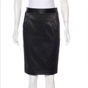 Dolce & Gabbana Satin Knee Length Pencil Skirt